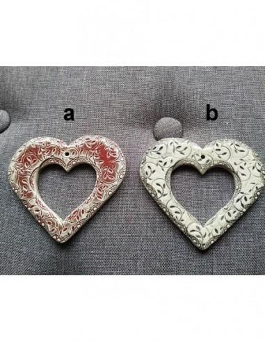 Cadres Cœur Artisanaux en Céramique...