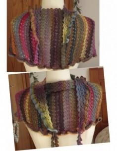 Kit Châle Crochet Bayadère