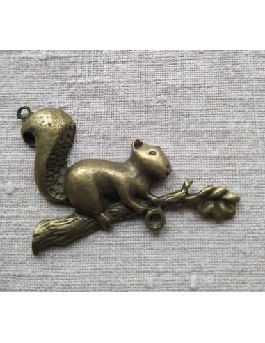Écureuil en Métal couleur Bronze