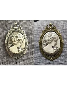 Broche Camée en Céramique Artisanale Française