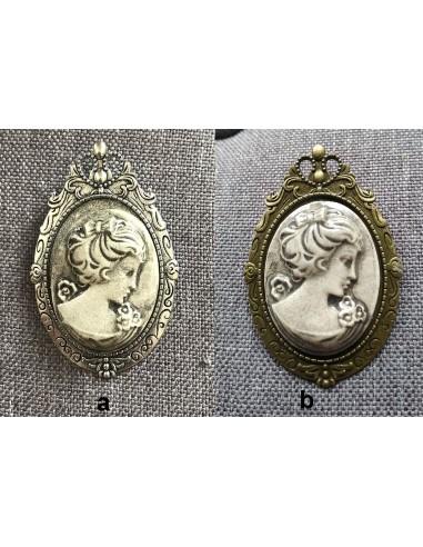 Broche Camée en Céramique Artisanale...