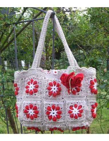 Fiche Sac Crochet Dahlia Rouge