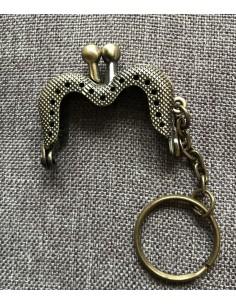 Fermoir Porte-Clefs Cœur 4 cm