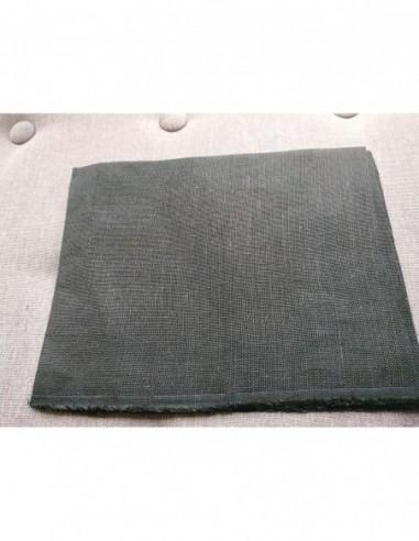 Toile de Lin 12 fils Noire